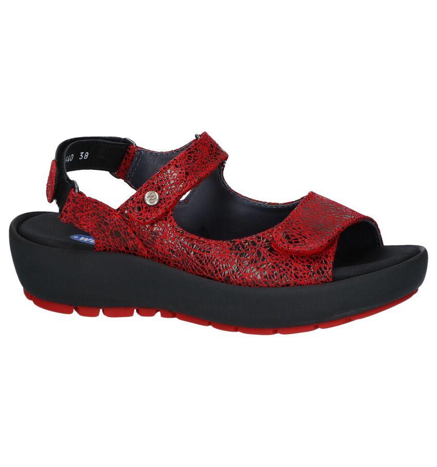 Rode Sandalen Wolky Rio