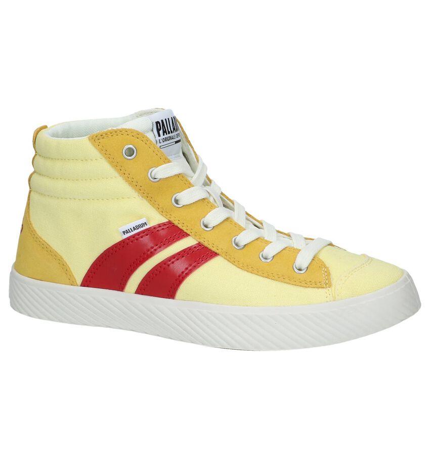 Lichtgele Hoge Sneakers Palladium Pallaphoenix Cuff