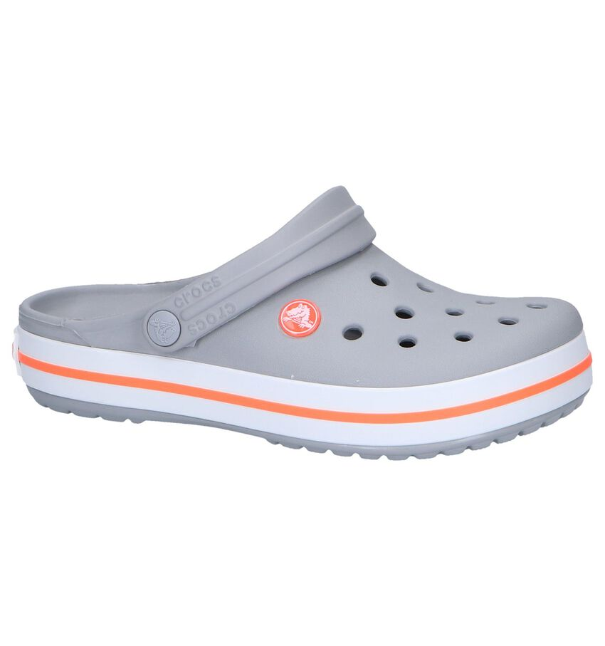 Lichtgrijze Slippers Crocs Crocband