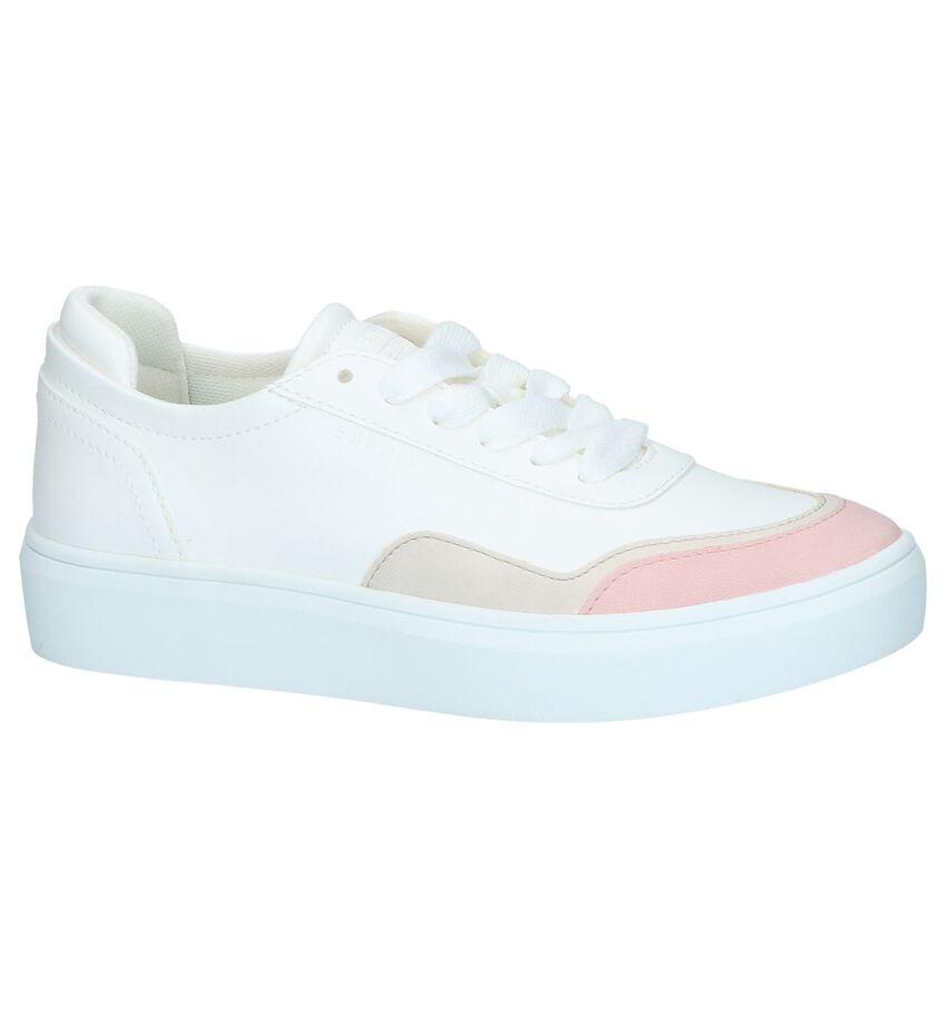 Witte Lage Sneakers Esprit Elda Toe