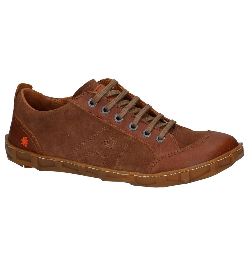 Cognac Casual Veterschoenen Art
