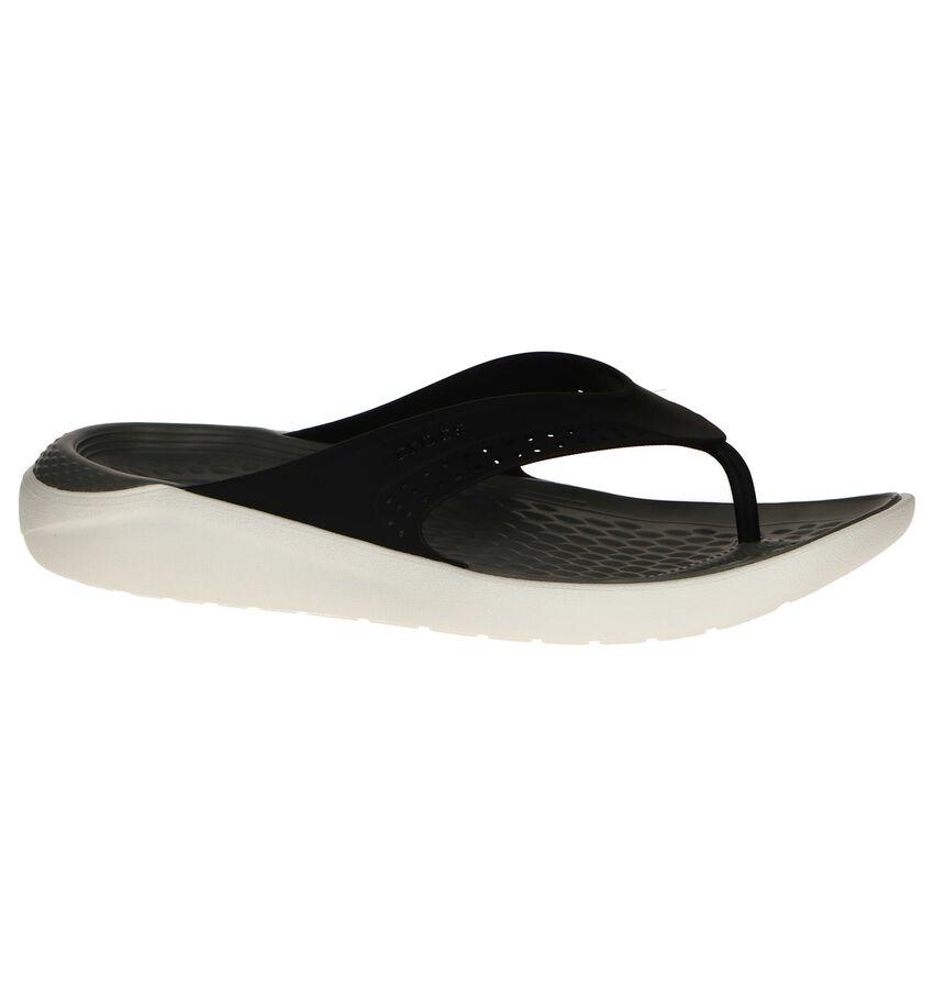 Zwarte Teenslippers Crocs Literide Flip