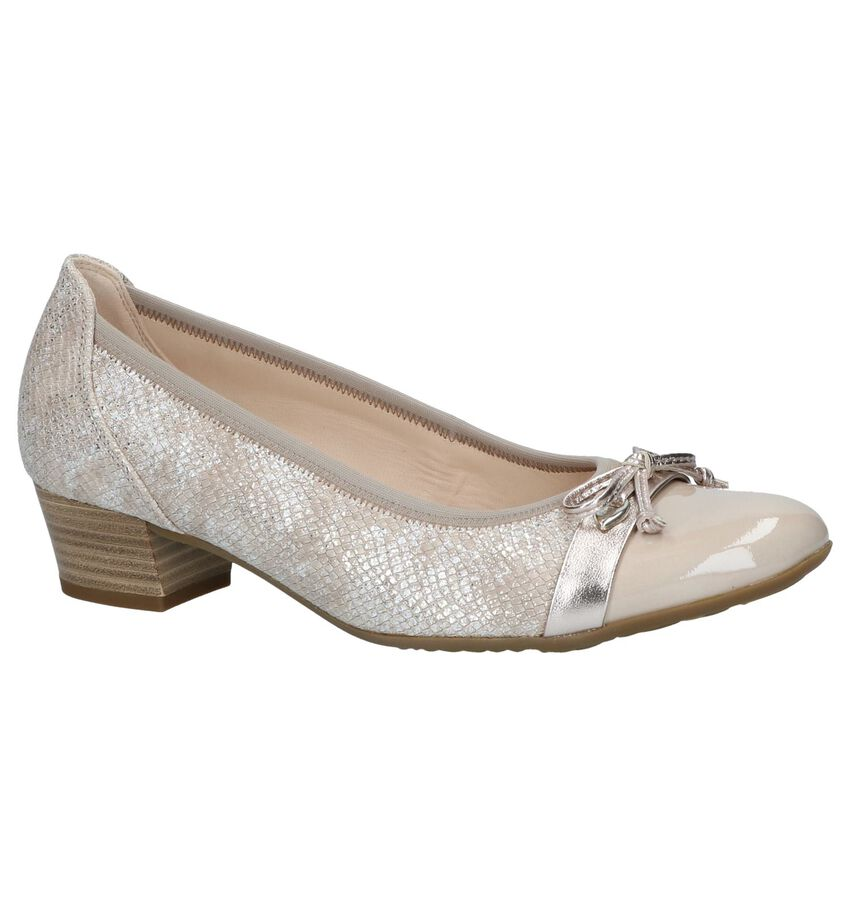 Beige Gabor Soft Move Pumps