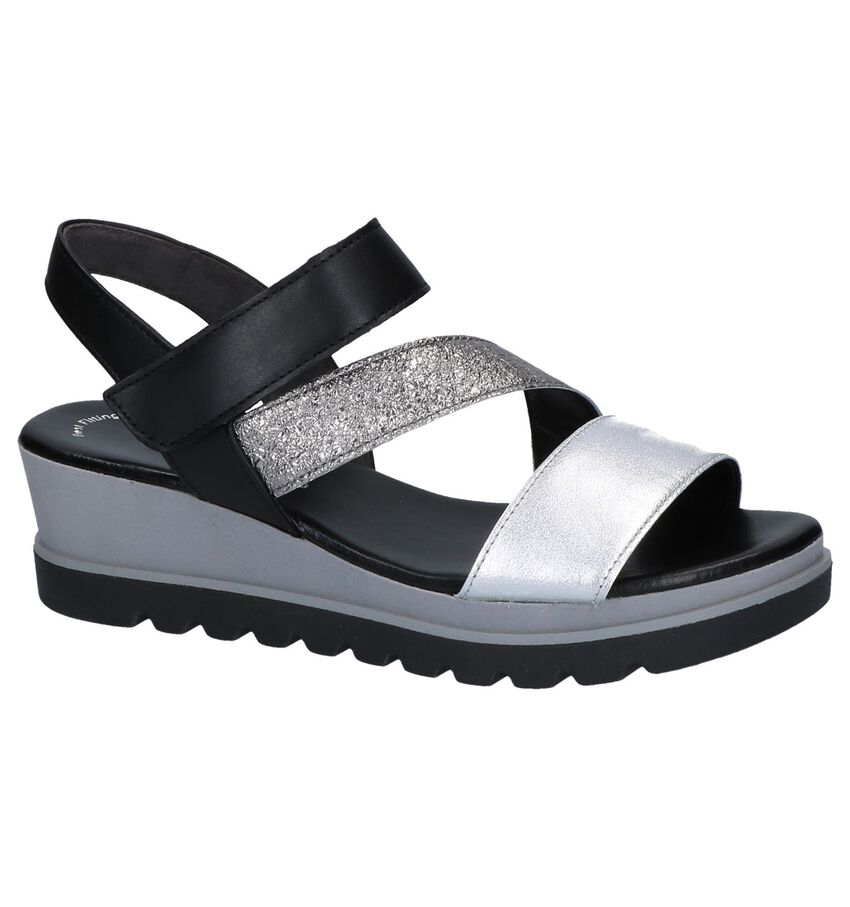 Zilveren Sandalen Gabor Best Fitting