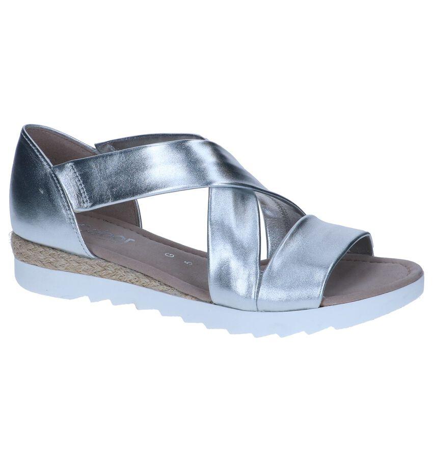 Zilveren Sandalen Gabor Comfort