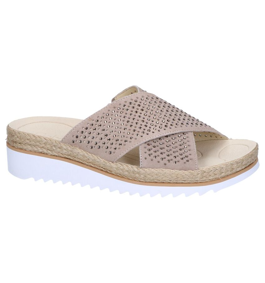 Taupe Slippers Gabor Best Fitting