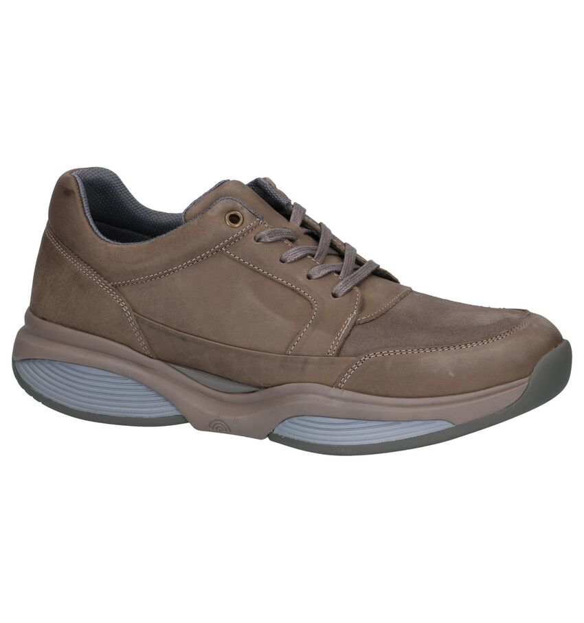 Taupe Veterschoenen Xsensible Stretchwalker