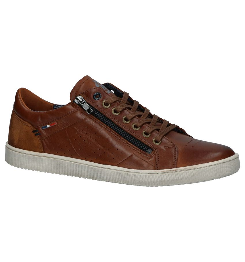 Cognac Casual Veterschoenen River Woods Mike