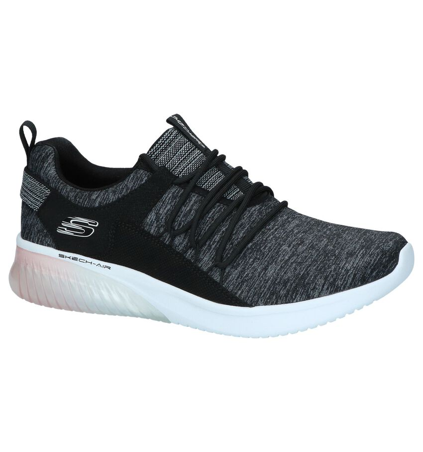 Donkergrijze Slip-on Sneakers Skechers Skech-air