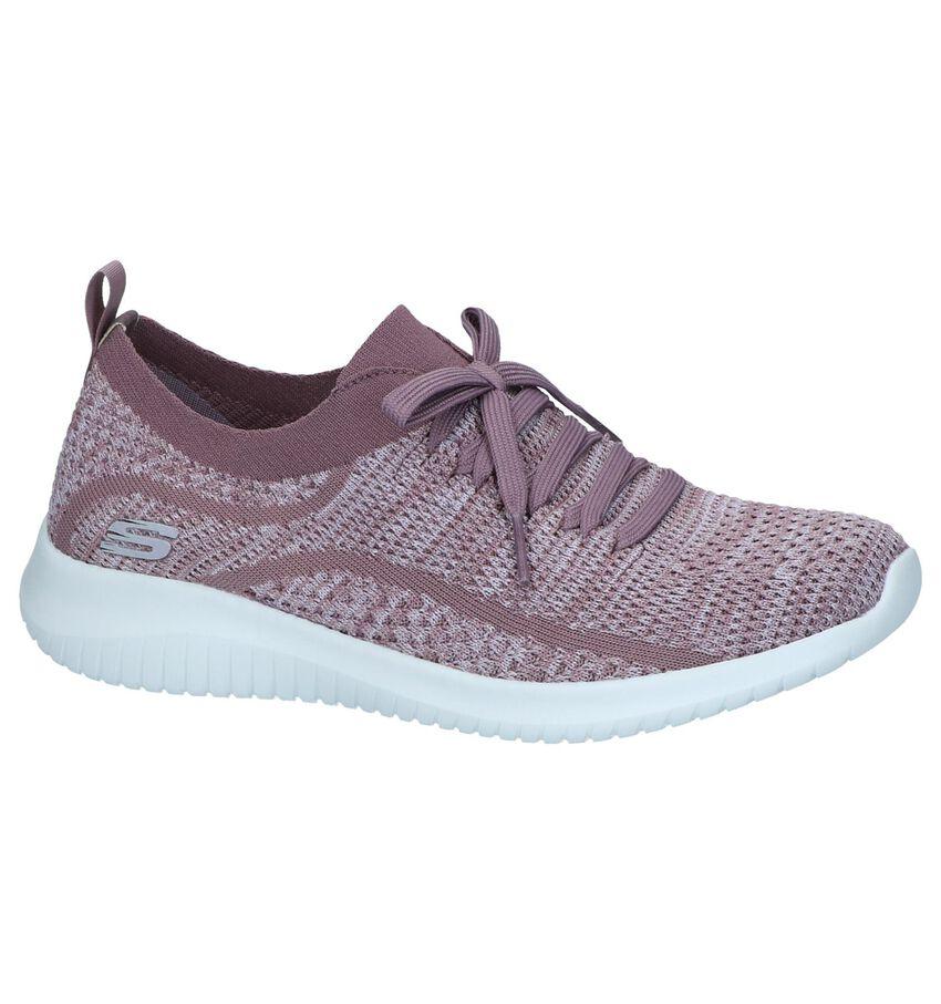 Paarse Slip-on Sneakers Skechers Ultra Flex