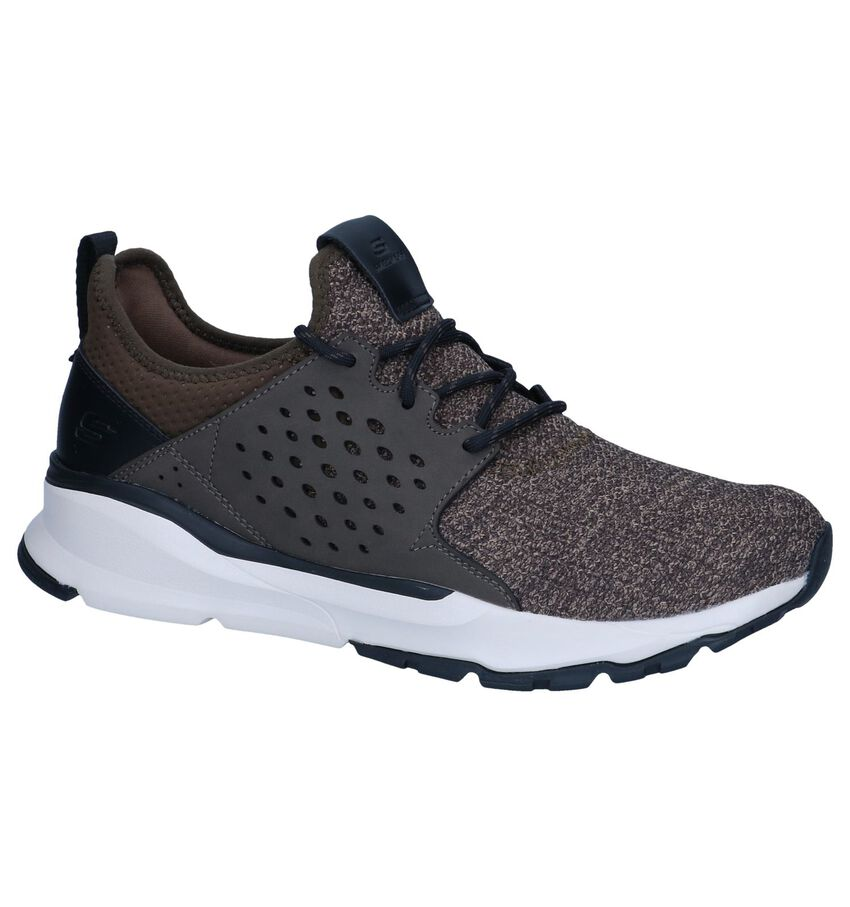 Donkerbruine Slip-on Sneakers Skechers