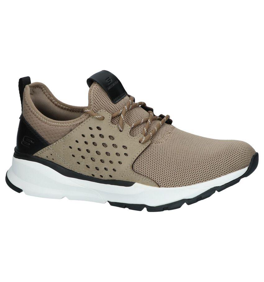 Donkerbeige Slip-on Sneakers Skechers