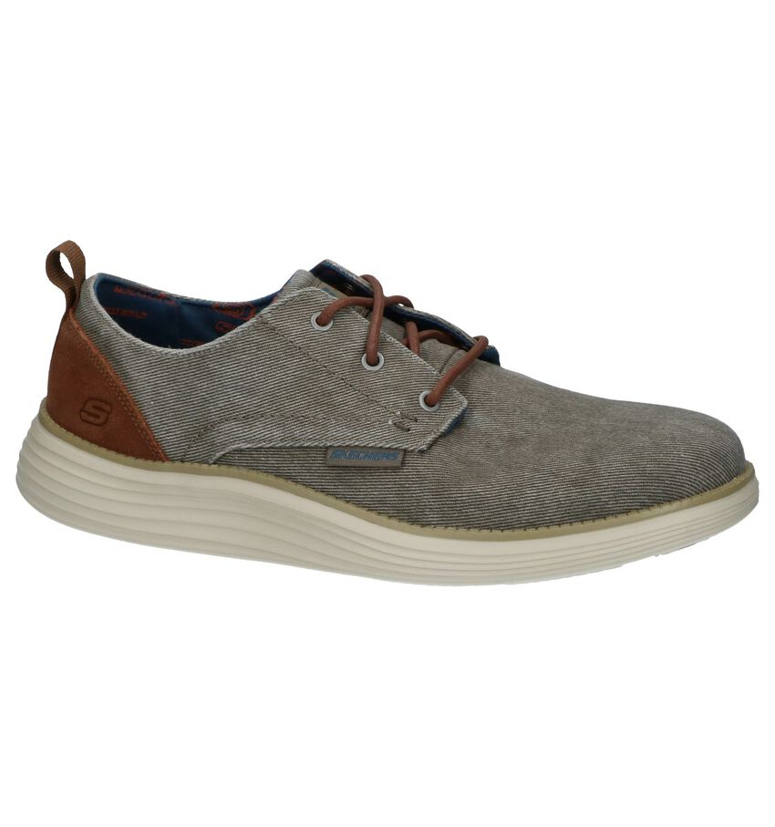 Taupe Casual Schoenen Skechers Classic Fit