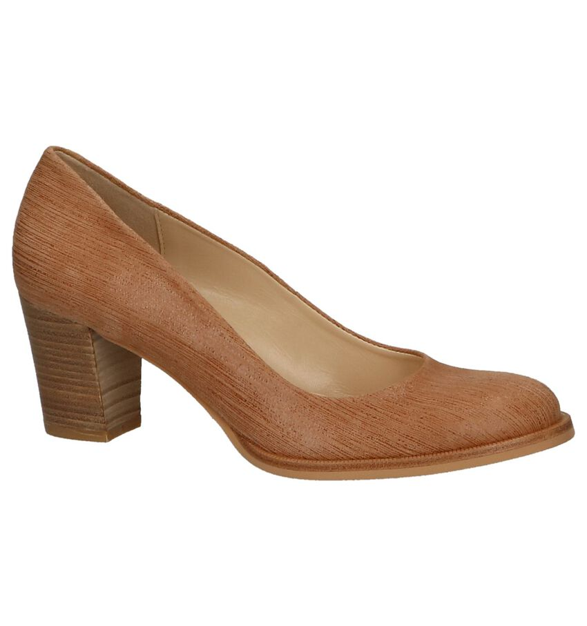 Cognac Metallic Pumps Zinda