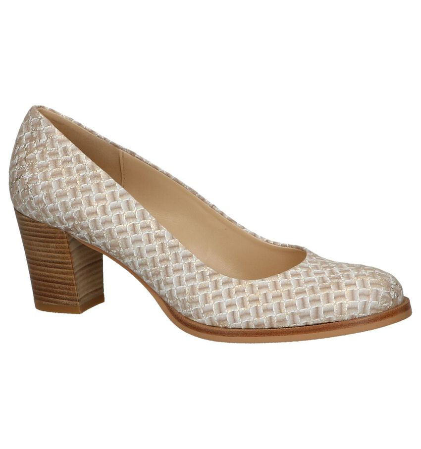 Taupe Metallic Pumps Zinda