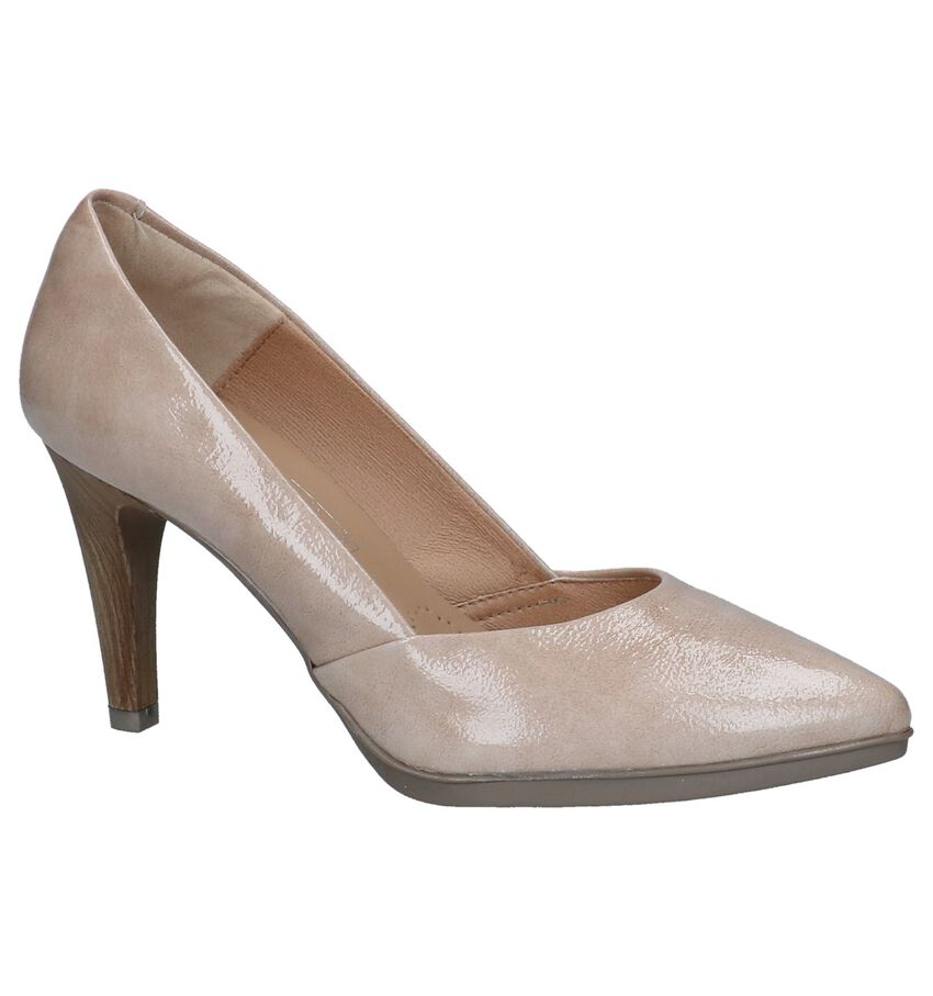 Donkerbeige Pumps Desireé