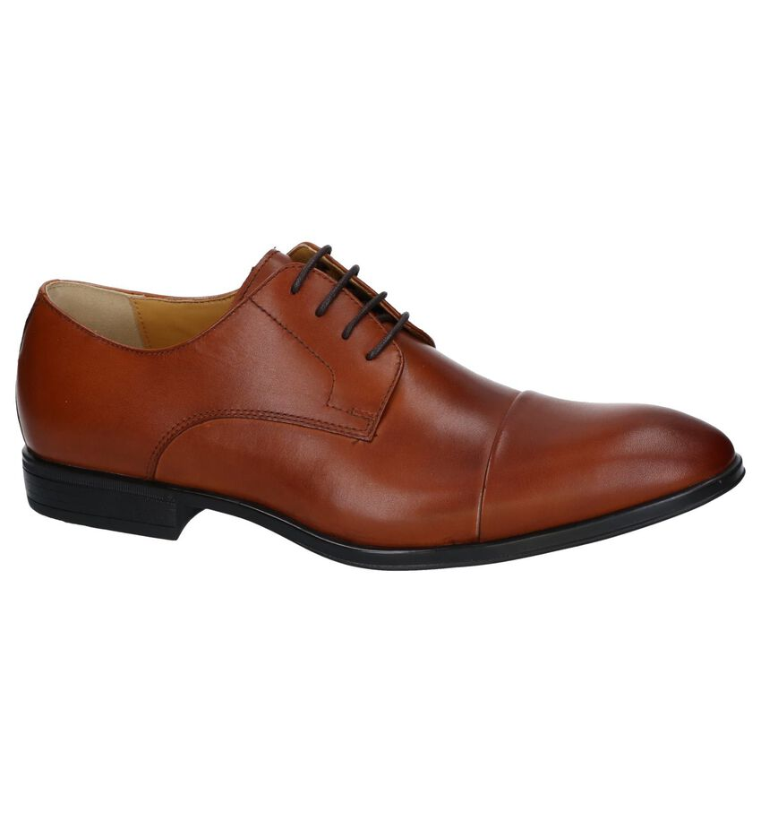 Cognac Nette Veterschoenen Steptronic Franco