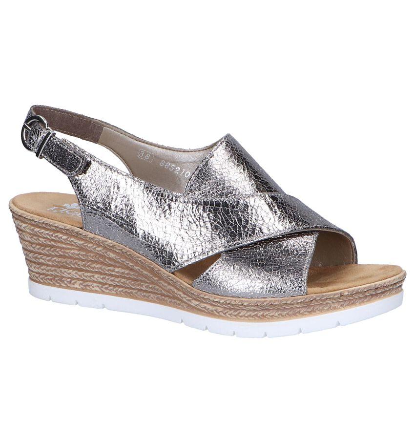 Zilveren Sandalen Rieker