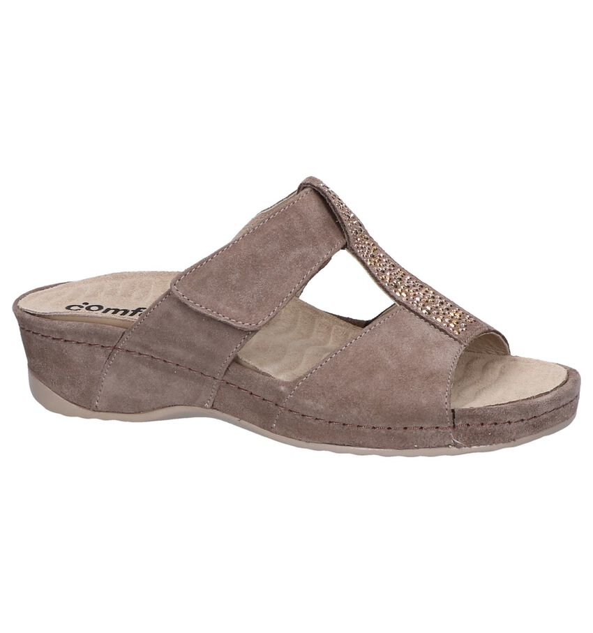 Taupe Slippers Comfort Plus