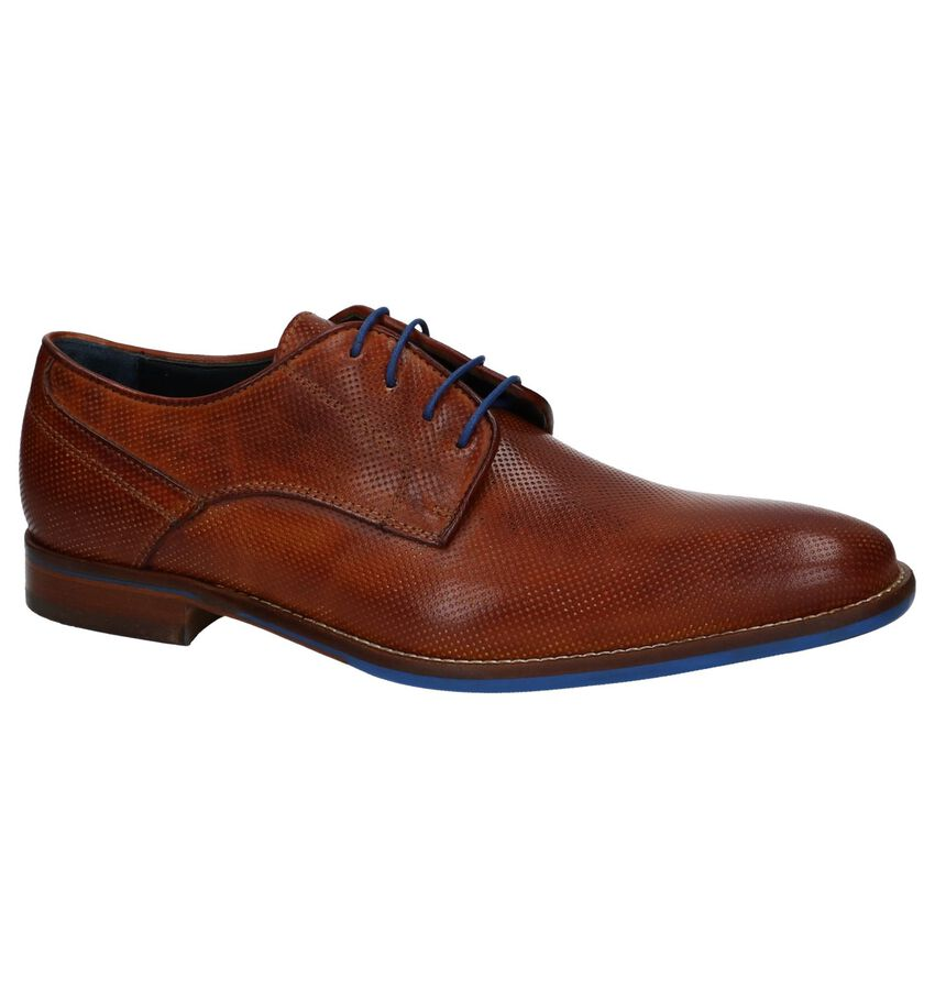 Cognac Nette Veterschoenen Via Borgo by Torfs