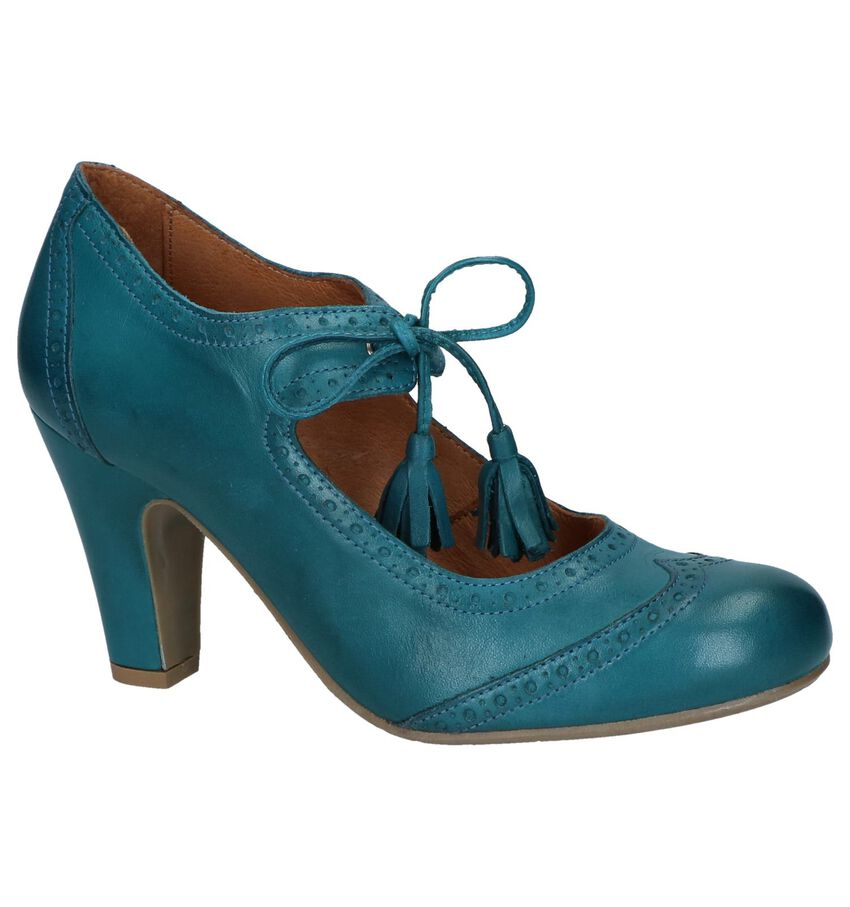 Turquoise Enkelpumps Relance