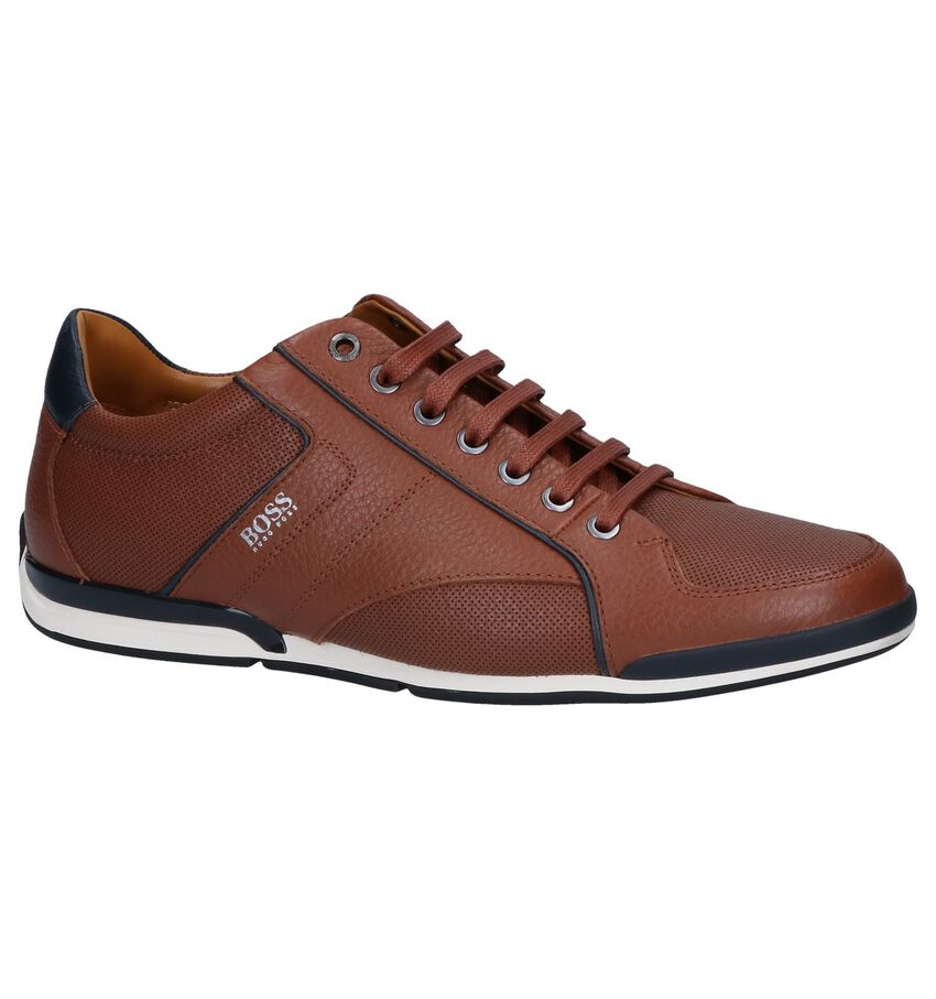 Hugo Boss Saturn Low Cognac Casual Schoenen
