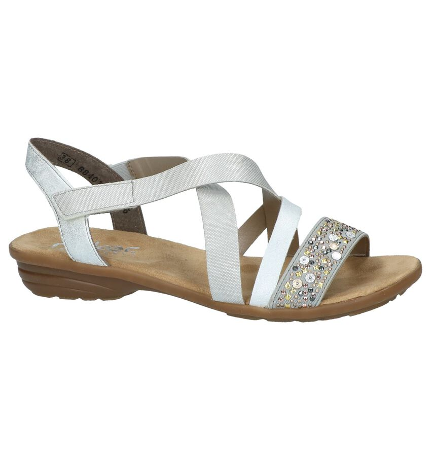 Zilveren Sandalen met Studs Rieker