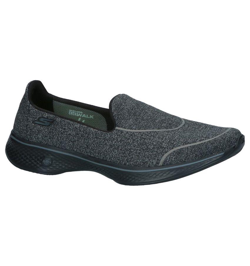 Donkergrijze Slip-on Sneakers Skechers Go Walk 4 Super