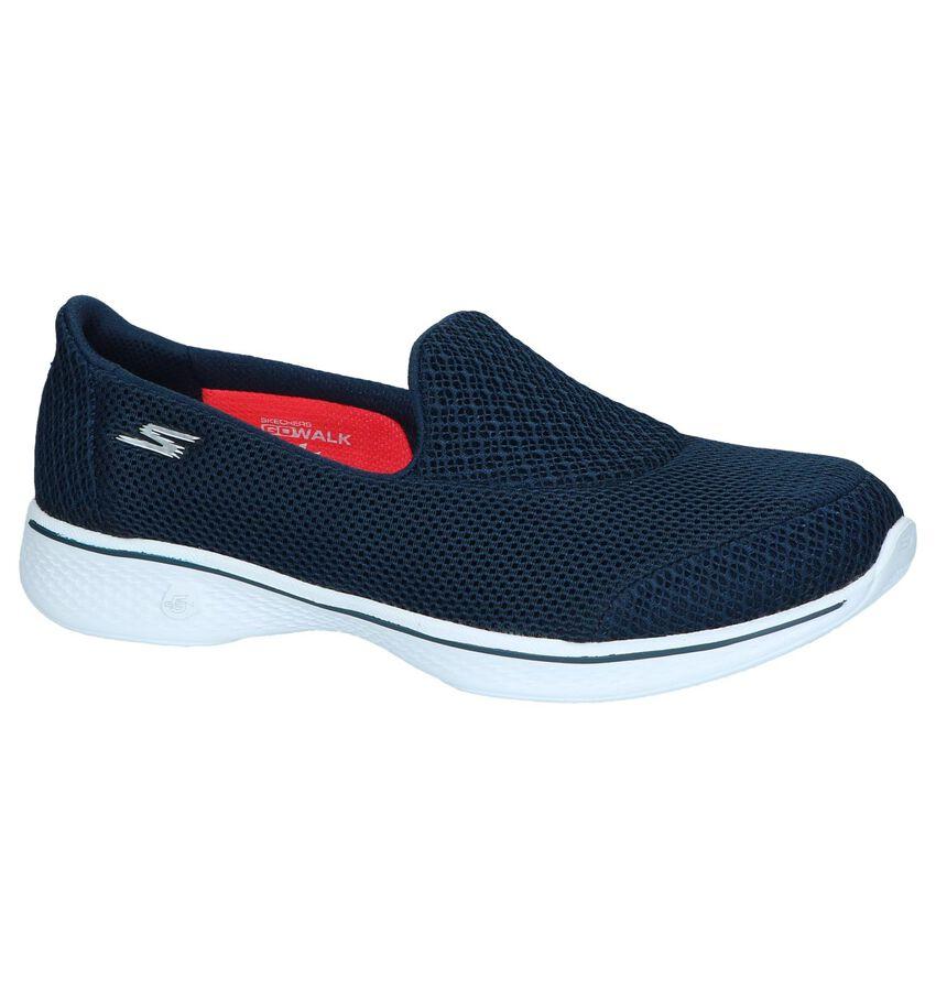 Donkerblauwe Slip-on Sneakers Skechers Go Walk 4 Propel