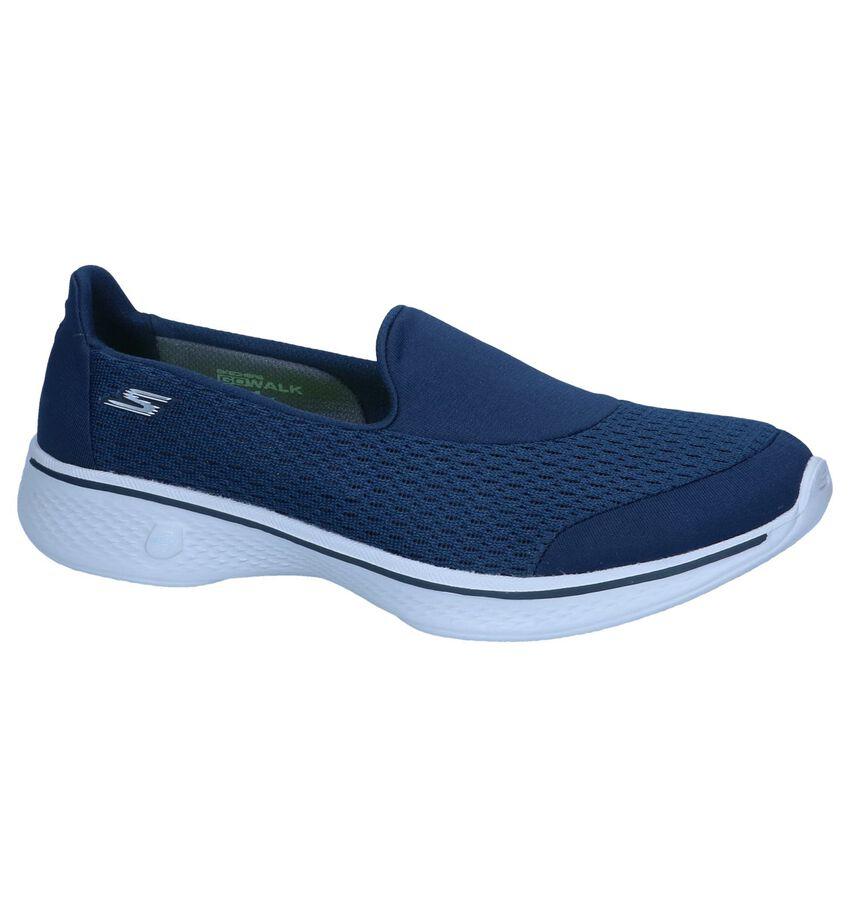 Donkerblauwe Slip-on Sneakers Skechers Go Walk 4 Persuit