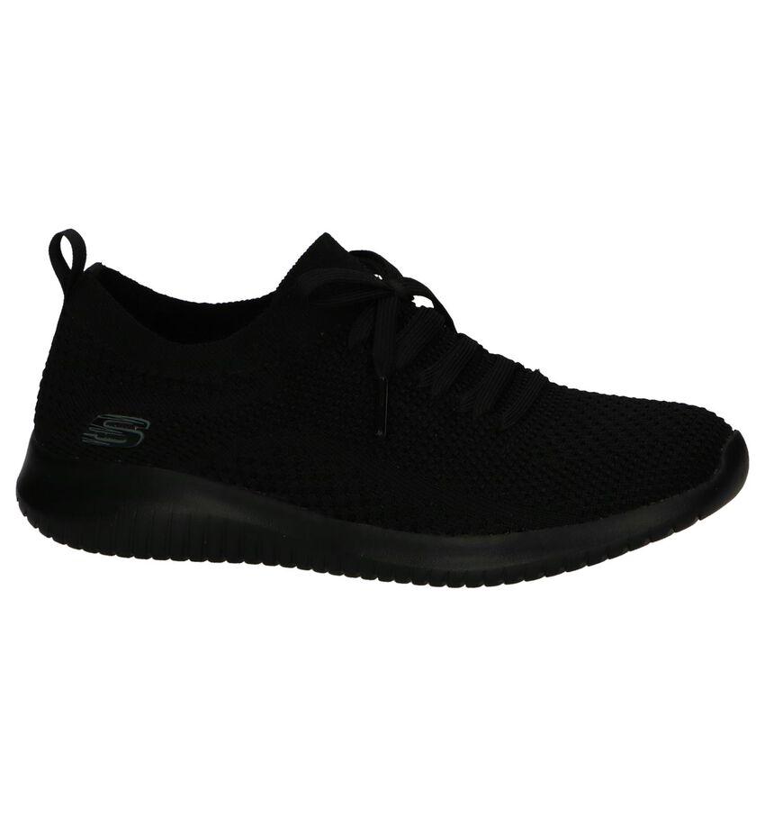 Zwarte Slip-on Sneakers Skechers Ultra Flex Statements