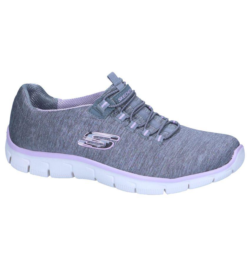 Grijze Slip-on Sneakers Skechers Relaxed Fit