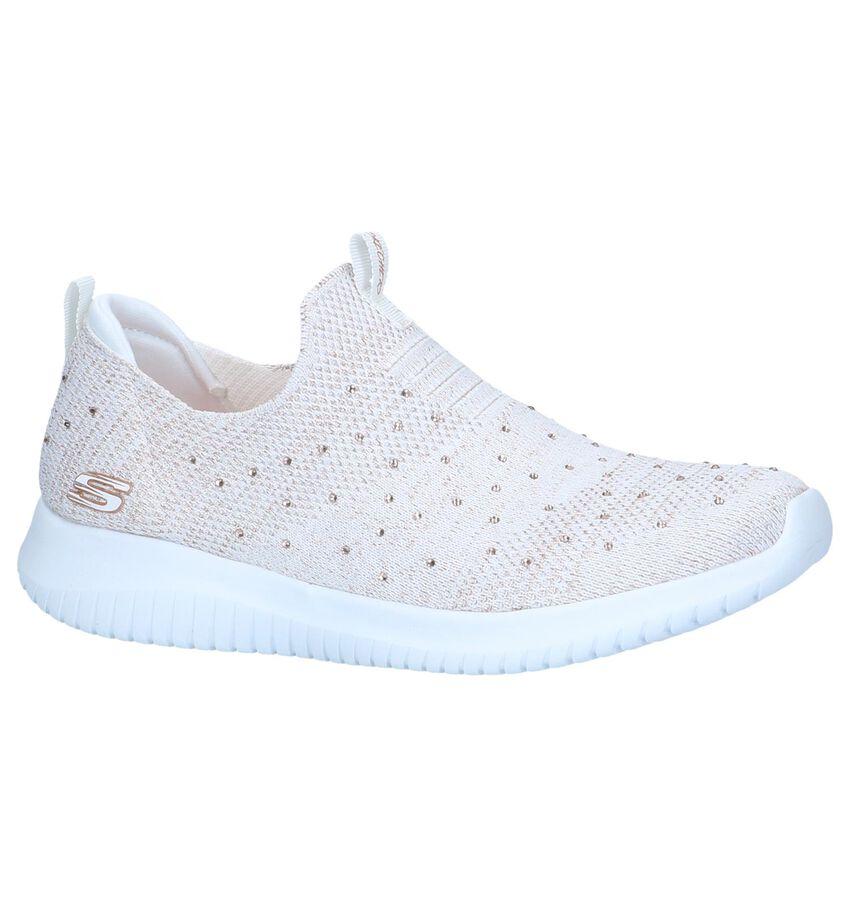Ecru Slip-on Sneakers Skechers Ultra Flex