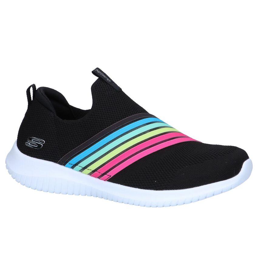 Zwarte Slip-on Sneakers Skechers Ultra Flex Bright