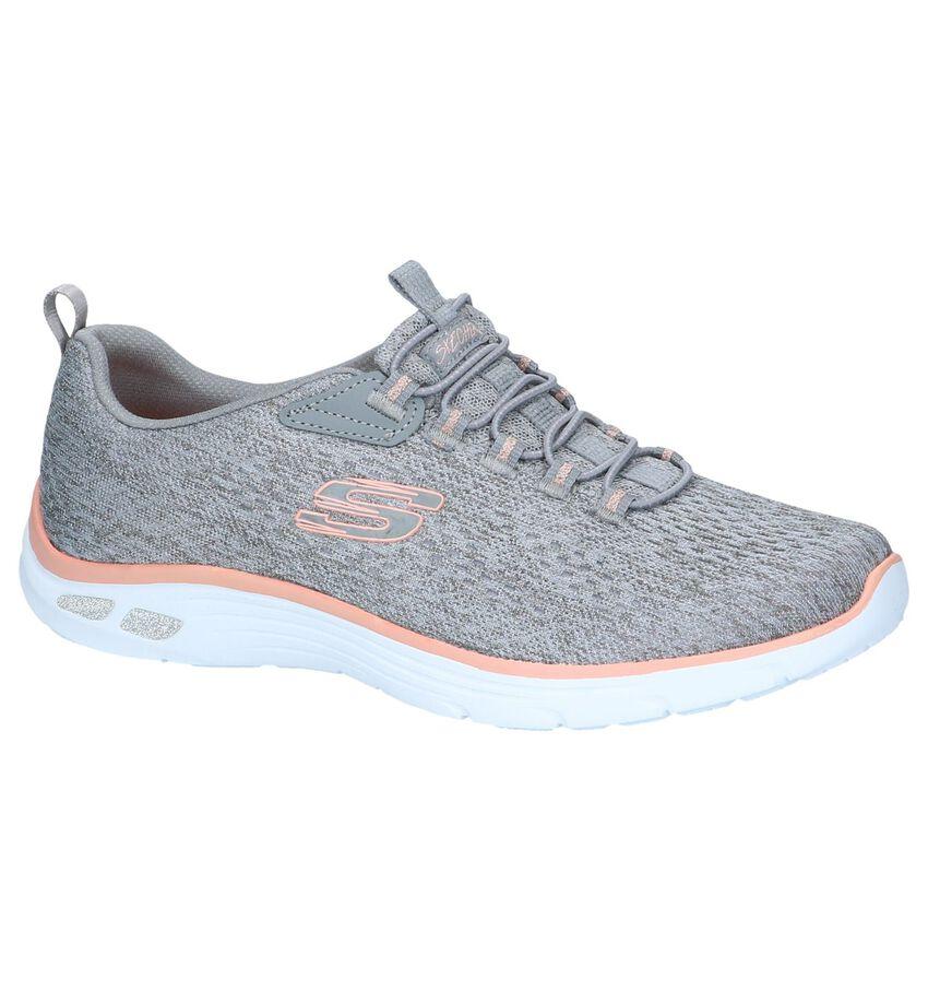 Grijze Slip-on Sneakers Skechers Empire D'lux