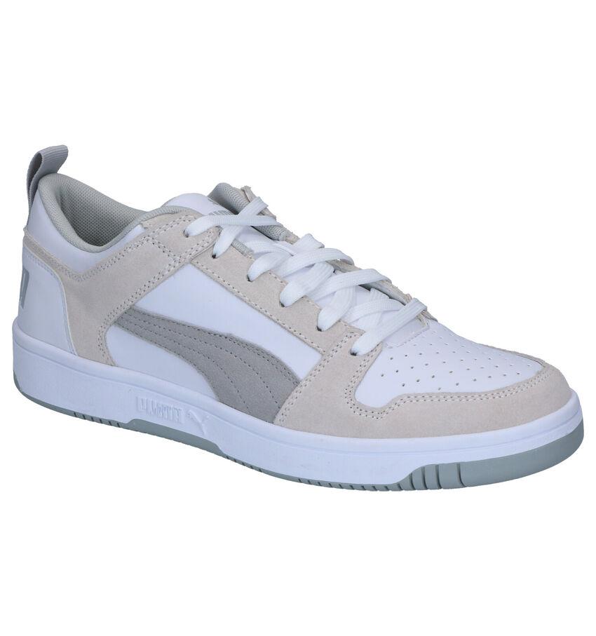 Puma Rebound Layup Baskets en Blanc