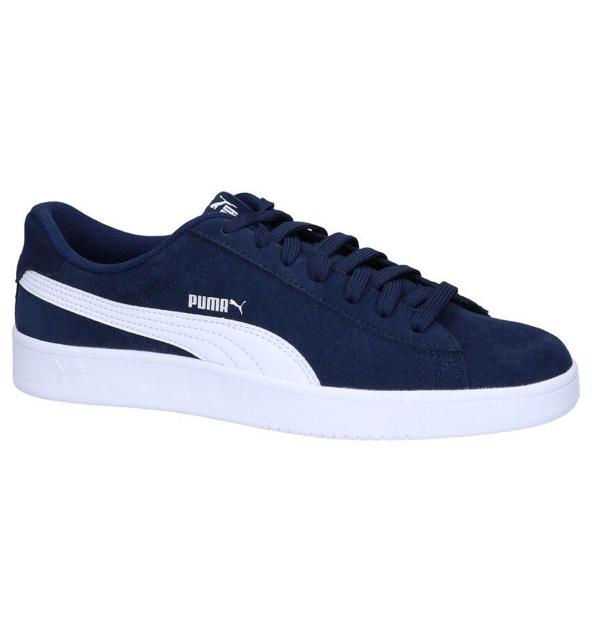Puma Court Breaker Derby Donkerblauwe Sneakers