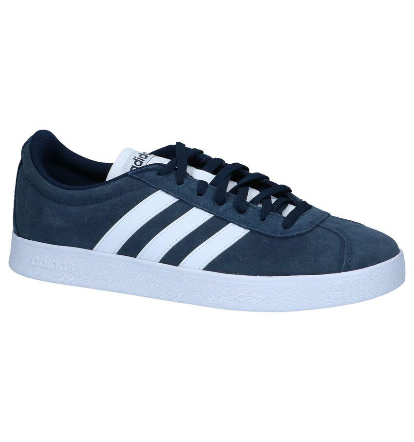 adidas VL Court 2.0 Blauwe Sneakers