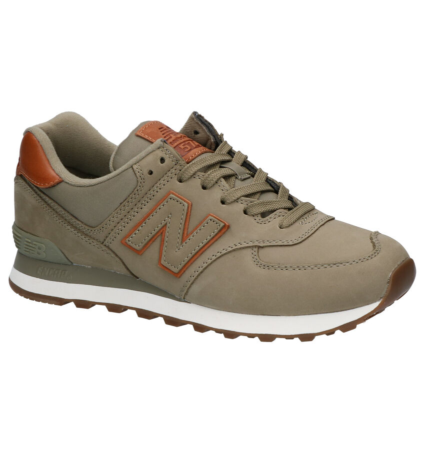 New Balance ML 574 Kaki Sneakers