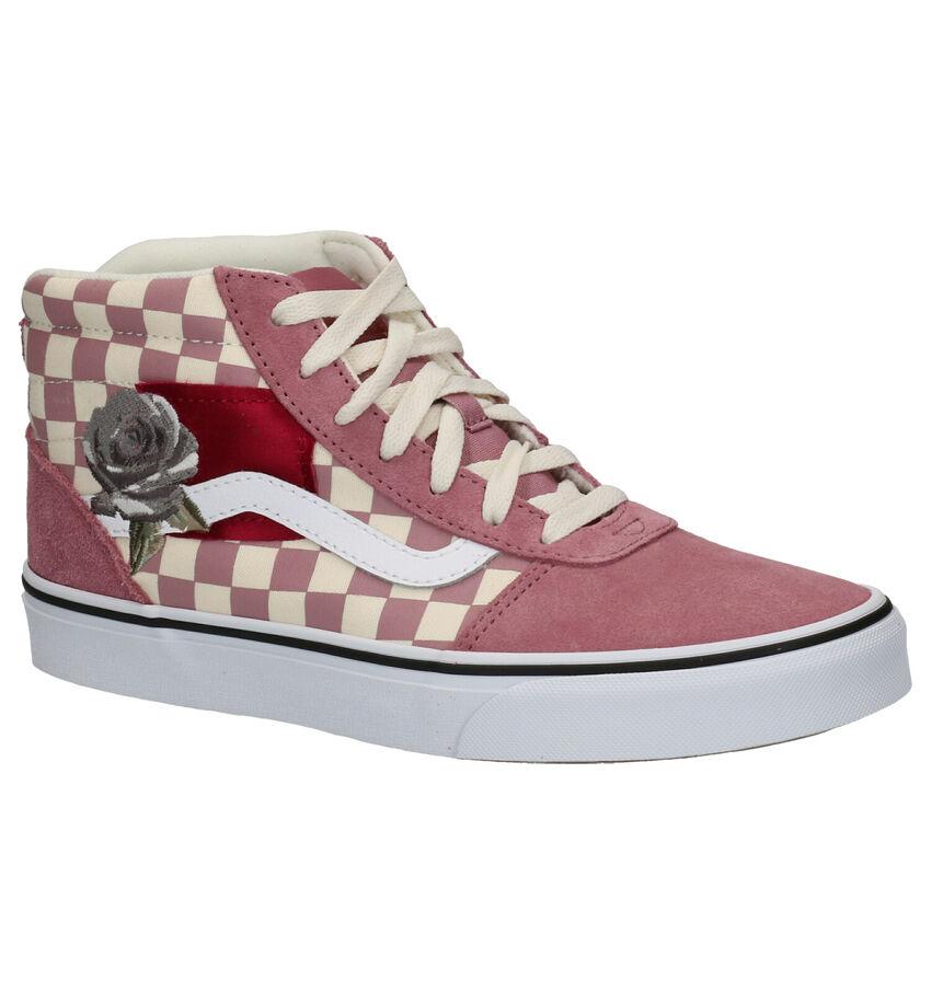 Vans Ward Hi Roze Skateschoenen