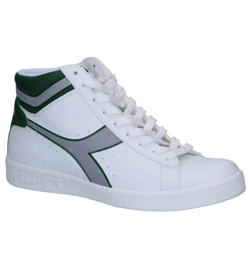 Diadora Game P Witte Hoge Sneakers