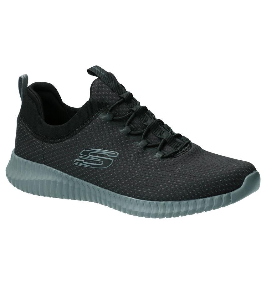 Skechers Elite Flex Belburn Zwarte Slip-on Sneakers