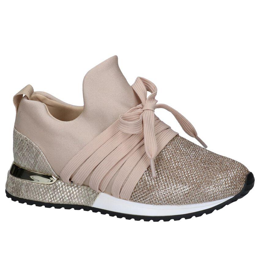 La Strada Gouden Slip-on Sneakers