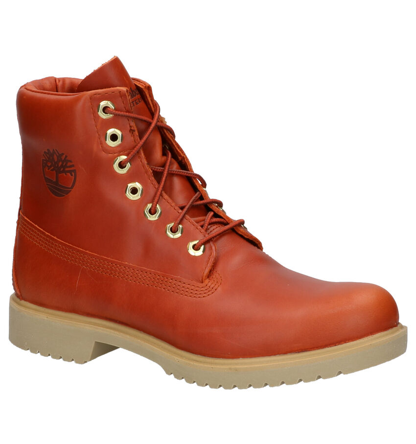 Timberland Newman 6 Inch Oranje Boots