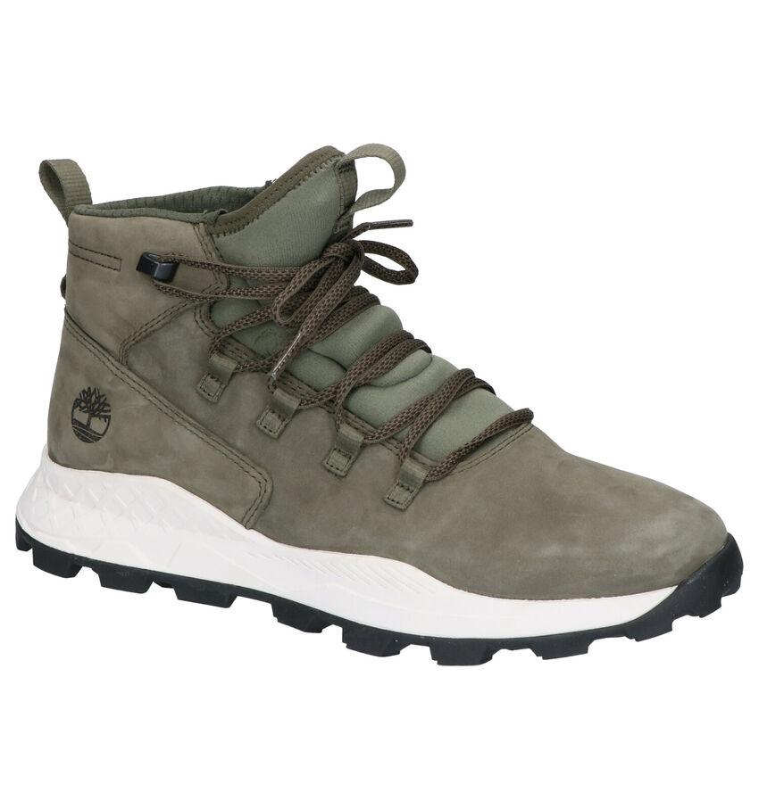 Timberland Brooklyn Kaki Hoge Sneakers