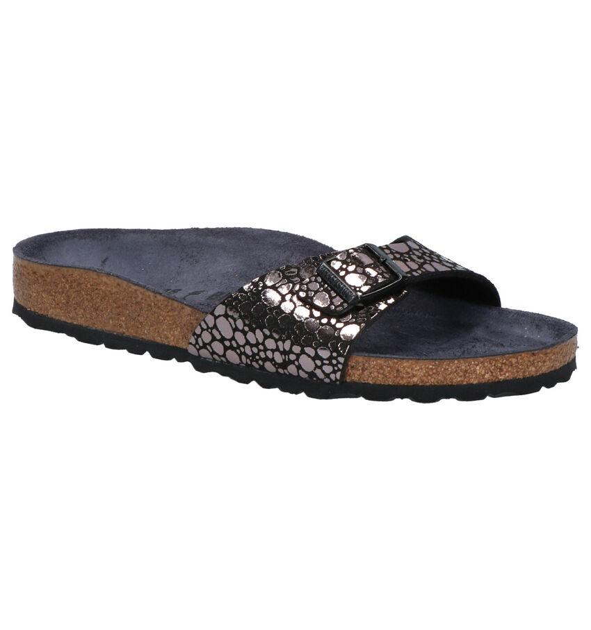 Birkenstock MADRID zilveren slippers