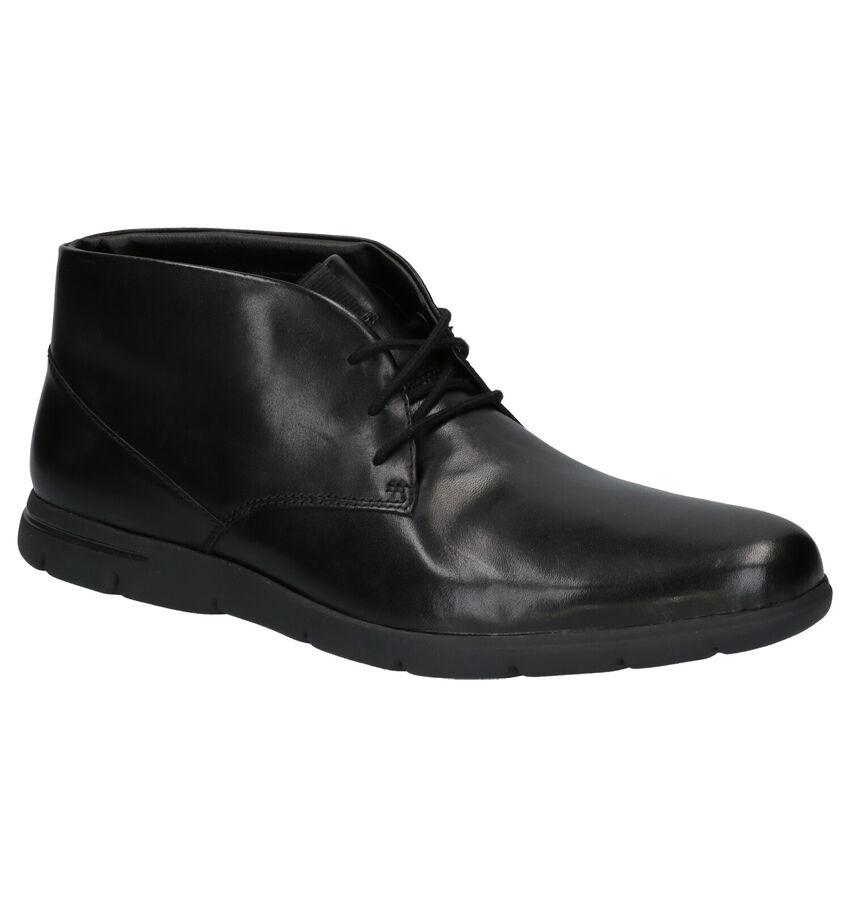 Clarks Vennor Zwarte Nette Schoenen