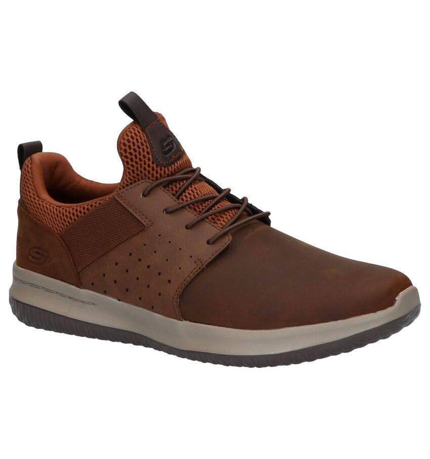 Skechers Delson Axton Bruine Sneakers