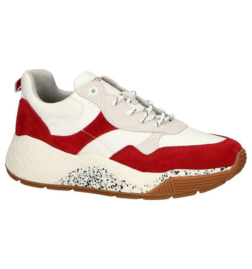 Wit-Rode Sneakers Esprit