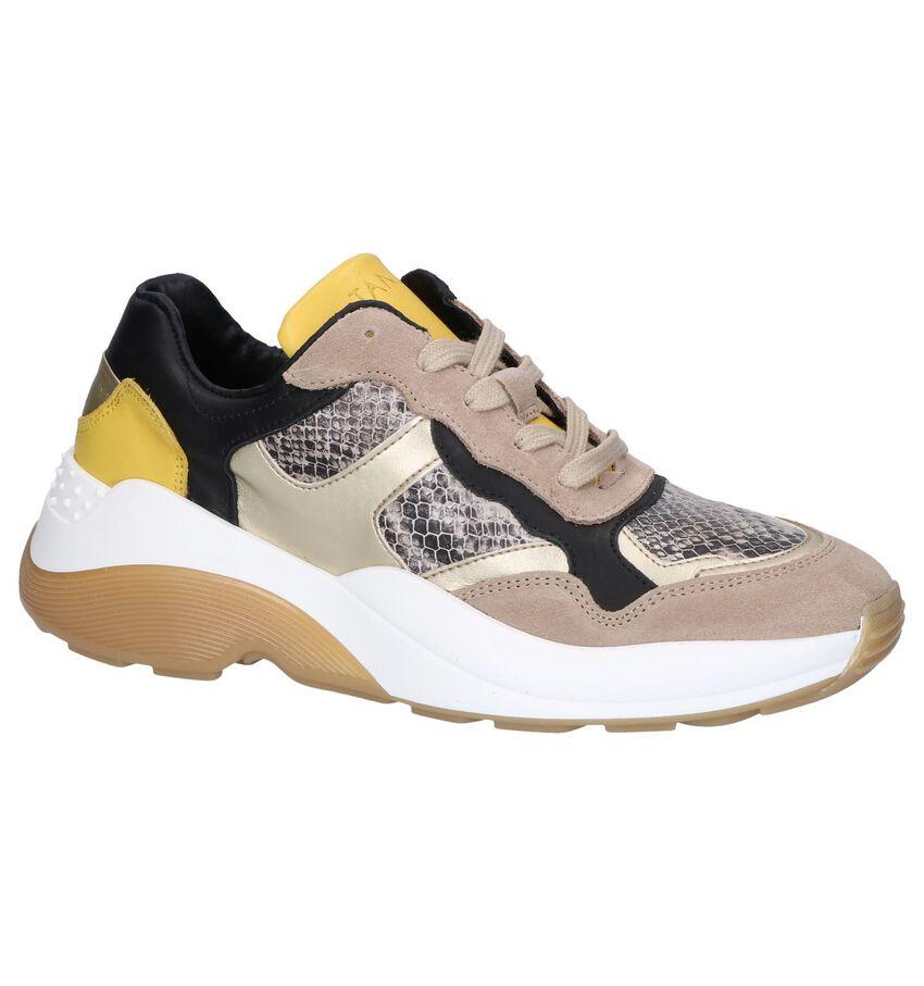 Beige/Gele Sneakers Tango Sage